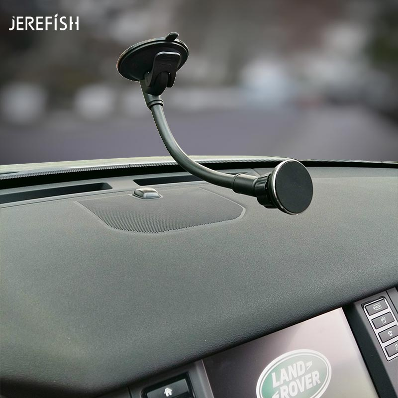 JEREFISH Universal Mobile Phone Dashboard Windshield Car Long Gooseneck Magnetic Holder Stand Mount For Gps Smartphone Cellphone