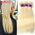 Блондинка Бразильский Прямо Девы Волос 3 Связки #613 Бразильские Прямые Светлые Волосы 7А Бразильского Виргинские Волос Прямо Человеческих Волос