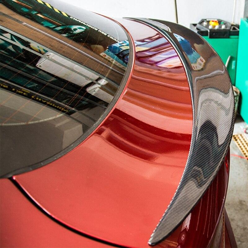 Pour BMW X6 E71 2008-2014 aileron d'aile arrière, ailes de coffre Spoilers fibre de carbone 3 M pâte installation