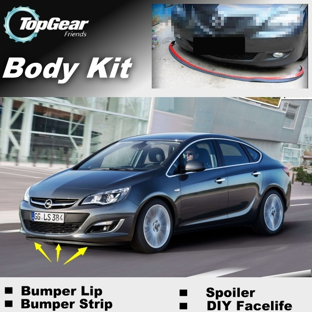 c4dc8f46f Bumper Lip Deflector Lips For Vauxhall Astra Front Spoiler Skirt For  TopGear Friends to Car View Tuning / Body Kit / Strip