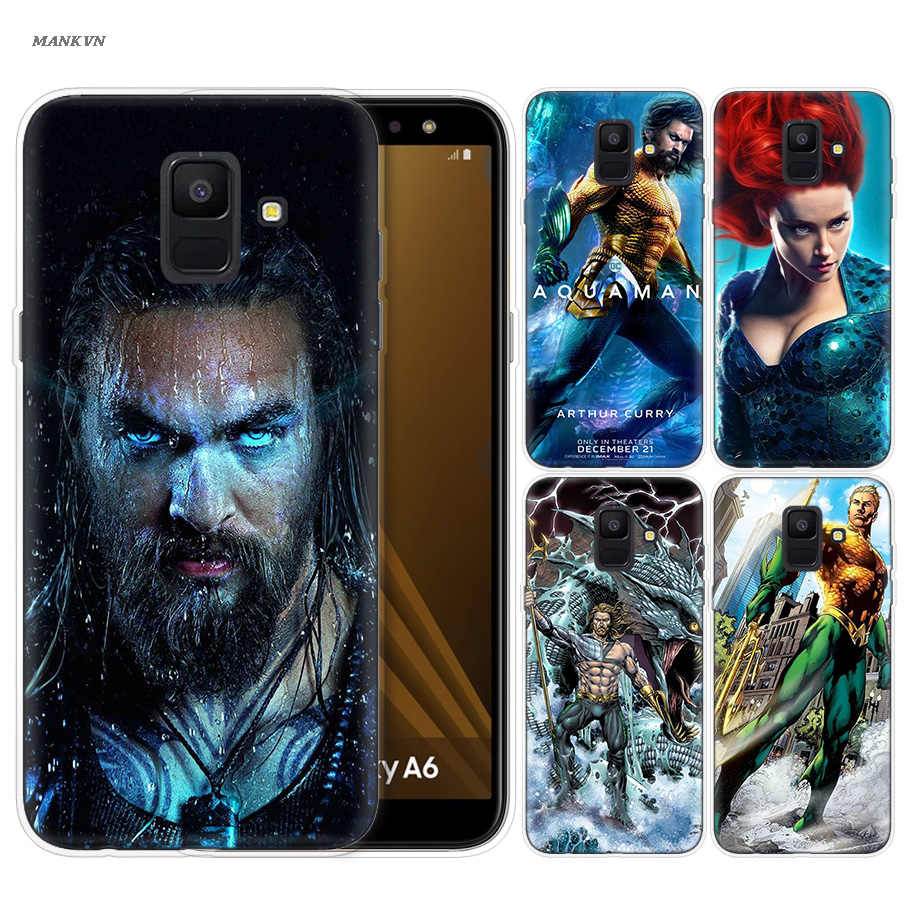 Aquaman Jason Momoa Pattern Silicone Case for Samsung Galaxy Note 8 9 J4 J6 J8 A6 A8 A7 A9 Star Lite S8 S9 Plus 2018 Phone Shell