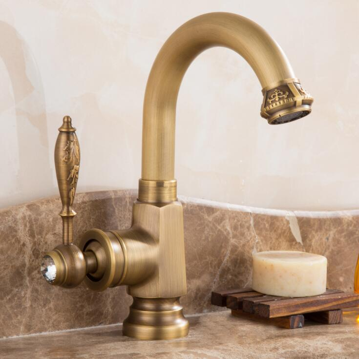 New arrival water tap high quality antique kitchen faucet cold and hot bathroom sink faucet basin faucet with two plumbing hose