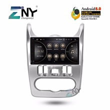 9 «ips Android 8,0 Автомобиль Стерео Авторадио для Renault Duster Dacia Logan Sandero мультимедиа FM RDS gps навигации 4 + 32 Гб без DVD