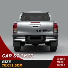 free shipping 1 PC4x4 car sticker tailgate decal off road graphic vinyl sticker for pickup suv 4x4 car