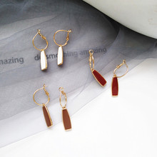 Geometry retro circle pendant earrings jewelry fashion woman