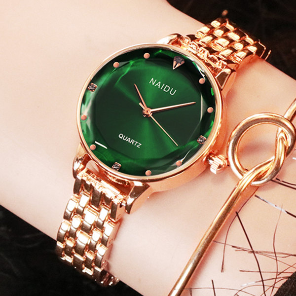 New NAIDU Rose Gold Women Watches Ladies Bracelet Watch Womens Quartz Dress Wristwatch Casual Feminino Reloj Mujer Kol Saati