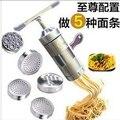 Casa pressionando máquina, Cozinhando ferramentas de aço inoxidável panelas mão máquina de corte Pasta Noodle criador dough pressionando máquina