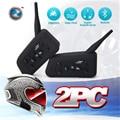 2 UNIDS Envío Libre 1200 M de La Motocicleta Del Casco de Bluetooth Intercom para 6 riders Interphone Auriculares BT Wireless Impermeable MP3