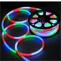 10m/roll RGB LED Flex Neon Light 2-wires With 80led/m AC110V 220V RGB LED Flex Tube Light CE RoHS Free Shipping