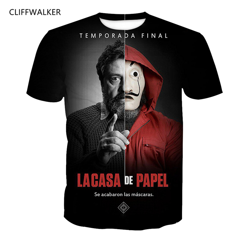 New Design For Men 3D Print La Casa De Papel Money Heist T