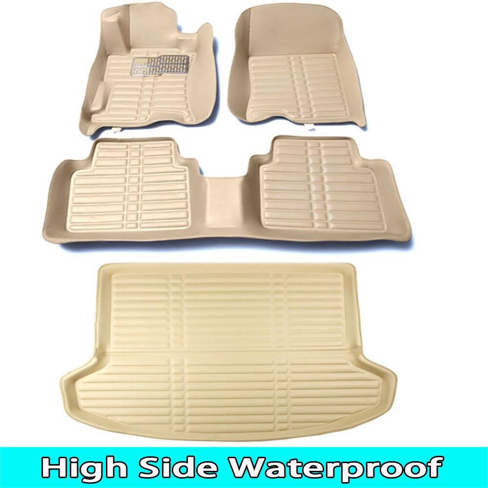 SUNNY FOX Car floor mats Case for Peugeot 206 207 308sw 3008 4008 508 rcz 5D Waterproof car-styling leather Anti-slip carpet linSUNNY FOX Car floor mats Case for Peugeot 206 207 308sw 3008 4008 508 rcz 5D Waterproof car-styling leather Anti-slip carpet lin