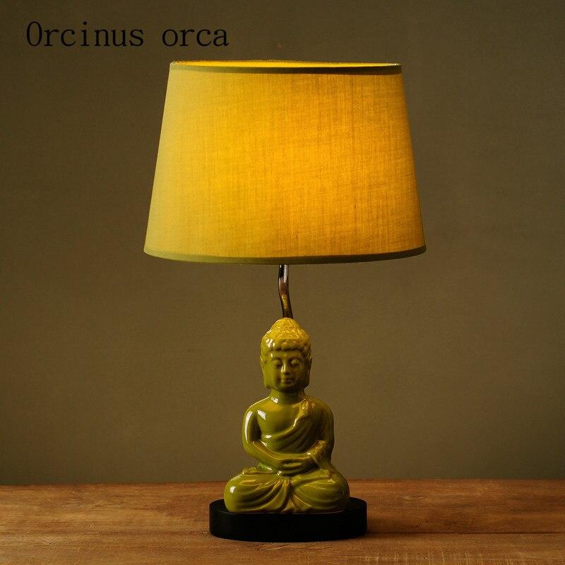 Nordic Настольная лампа Творческий современном минималистском ретро Будда лампа спальня ночники доставка бесплатная