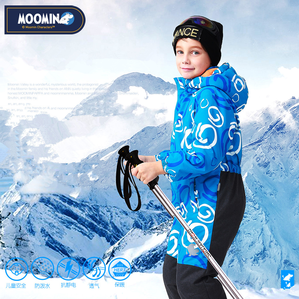 Moomin 2016 New arrival Winter Waterproof Romper 100% Polyester Cotton Filling Romper Winter Snowsuit one piece romper blue moomin 2016 new arrival winter waterproof romper 100