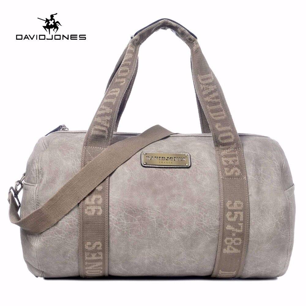 DAVIDJONES Women Travel duffel PU shoulder bags Top-Handle barrel bag все цены