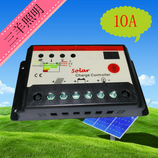 12V/24V automatic identification of 10A photovoltaic solar panels for power generation xingbao 04001 block 2020pcs genuine creative movie series the robot set children educational building blocks bricks toy xb 04001
