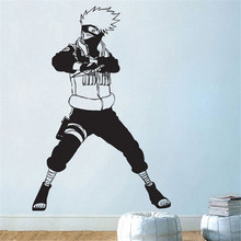 Hatake Kakashi Fighter Naruto Wall Decal Vinyl Comics Anime home decoration Art removable wall stickers