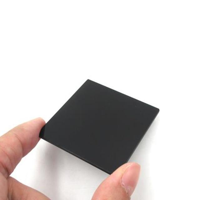2 uds. De filtro de plástico infrarrojo, Material PMMA de 1,5mm de grosor, 50mm x 50mm x 1,5mm, IR780