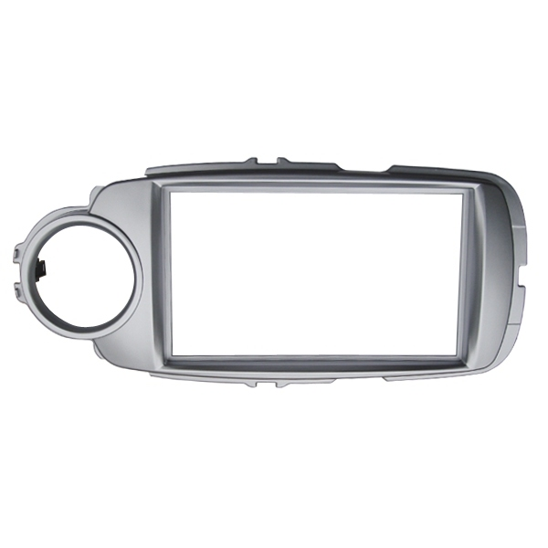 Car Fascia Radio Panel for Toyota Yaris(XP130) 2011 2014 (Left&Right Wheel) Dash Fitting Kit Install Facia Plate Bezel Adapter-in Fascias from Automobiles & Motorcycles    2