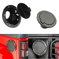 Fuel Filler Door Cover Gas Tank Cap For 2007 2016 Jeep Wrangler JK Unlimited 4 Door