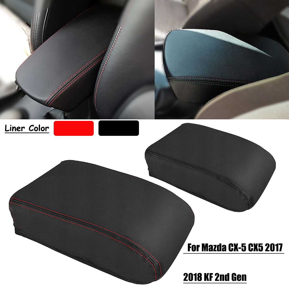 Car Console Seat Armrest Box Cover PU Center Shell for Mazda <font><b>CX</b></font>-<font><b>5</b></font> CX5 2017 <font><b>2018</b></font> KF 2nd Car Styling Accessories image