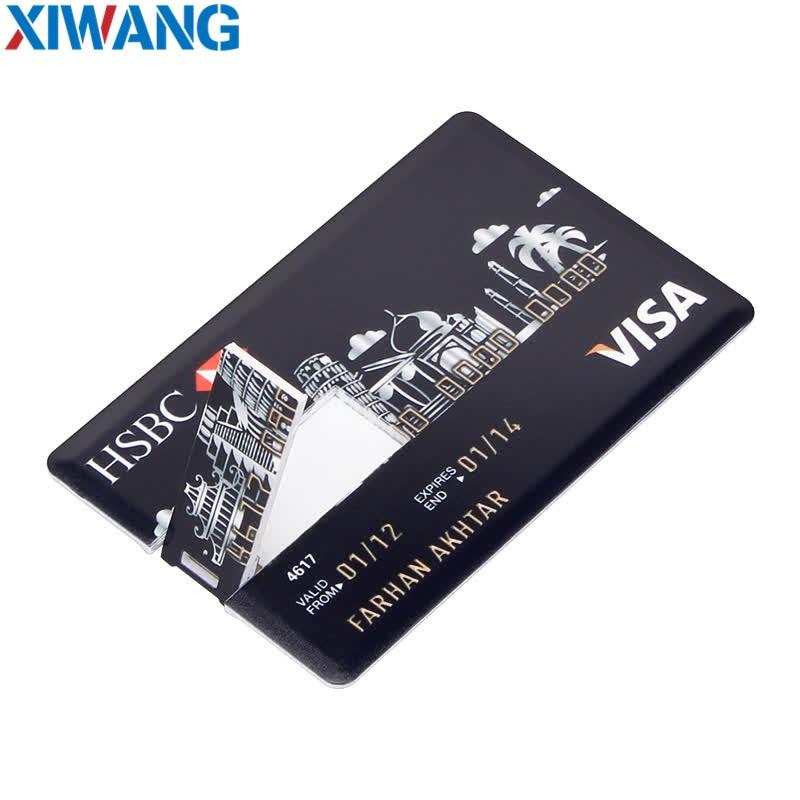 Real Capacity Bank Card USB Memory stick HSBC Master Credit card USB Flash Drive 64gb Pendrive