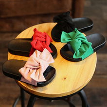 2017 Summer Toddler Bow Children Slide Casual Beach Sandal Baby Girl Black Mule Kid Fashion Slip On Slipper