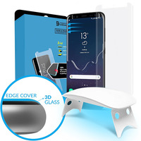 For Samsung Galaxy S9 3D Curved Full Coverage Tempered Glass Screen Protector With Install Kit UV