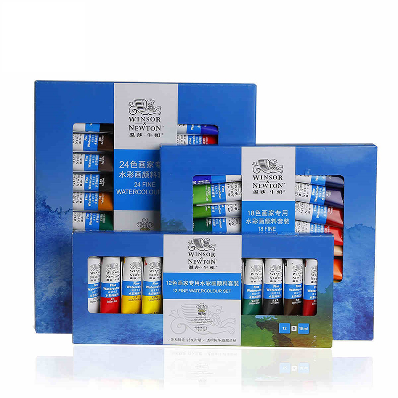 купить 12/18/24Winsor Newton Watercolor Paint for Painter Artist Professional Drawing Set недорого
