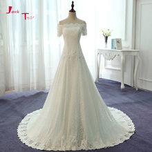 Jark Tozr Boat Neck Short Sleeve Wedding Dress 2019