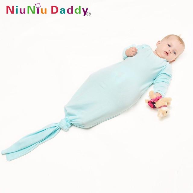2016 NiuniudaddyNewborn baby Sleeping Bag 100% bomullspädbarn Klädstil sovsäckar Långärmad Romper för 12-24M