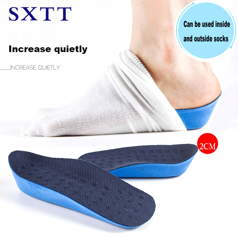 SXTT Unisex height increase  Orthopedic insoles Half Insole Pad Height Cushion Taller Male Female Footwear Shoes arch support