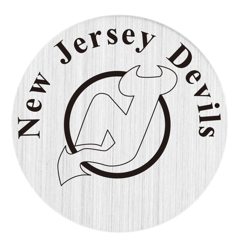 New Jersey Devil 22mm Stainless Steel Floating Locket Plate NHL Floating Charms Fit 30mm Living Glass Lockets 20pcs/lot