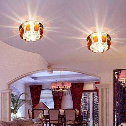 Colorpai envío gratis luces modernas del pasillo de la manera 5 W luces del pasillo led lámpara de cristal para la decoración de la luminaria del hogar