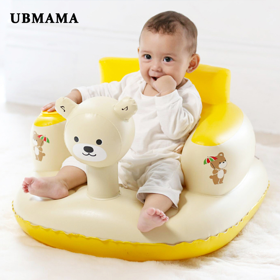Portable Bath Seat Easy To Clean Dining Chair Baby Inflatable Sofa With Inflatable Pump Baby Learning Chair Play Game Mat Sofa