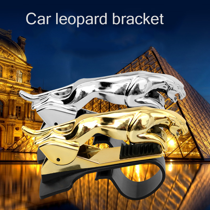 Car Phone Holder Dashboard Mount Universal Leopard-body-Cell Phone Clip GPS Bracket Mobile Phone Holder Stand