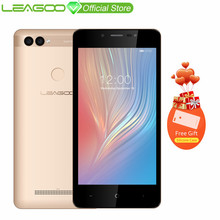 "LEAGOO POWER 2 Mobile Phone 5.0""HD IPS RAM 2GB ROM 16GB Android 8.1 MT6580A Quad Core Dual Camera Rear Fingerprint 3G Smartphone(China)"