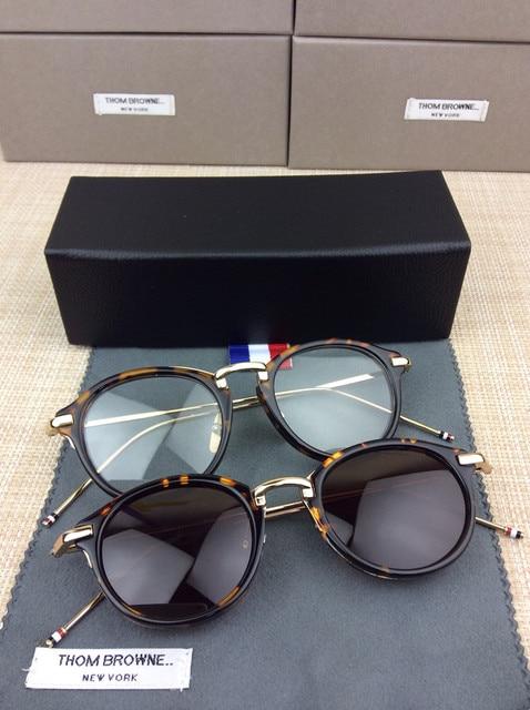 601581466 New Sunglasses Women Brand Designer glasses men TB-011 fashion Sunglasses  man Thom Browne tb011 sun glasses with original box