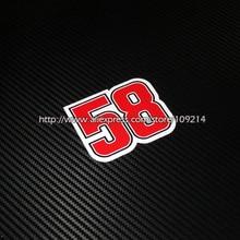 58 Simoncelli Шлем Мотоцикл моторный велосипед наклейки водонепроницаемый стикер 12