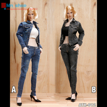ACPLAY 1/6 ATX012 Hot Girl Jean Clothes Sets 2 Colors For 12″ Action Figure Toys Accessories