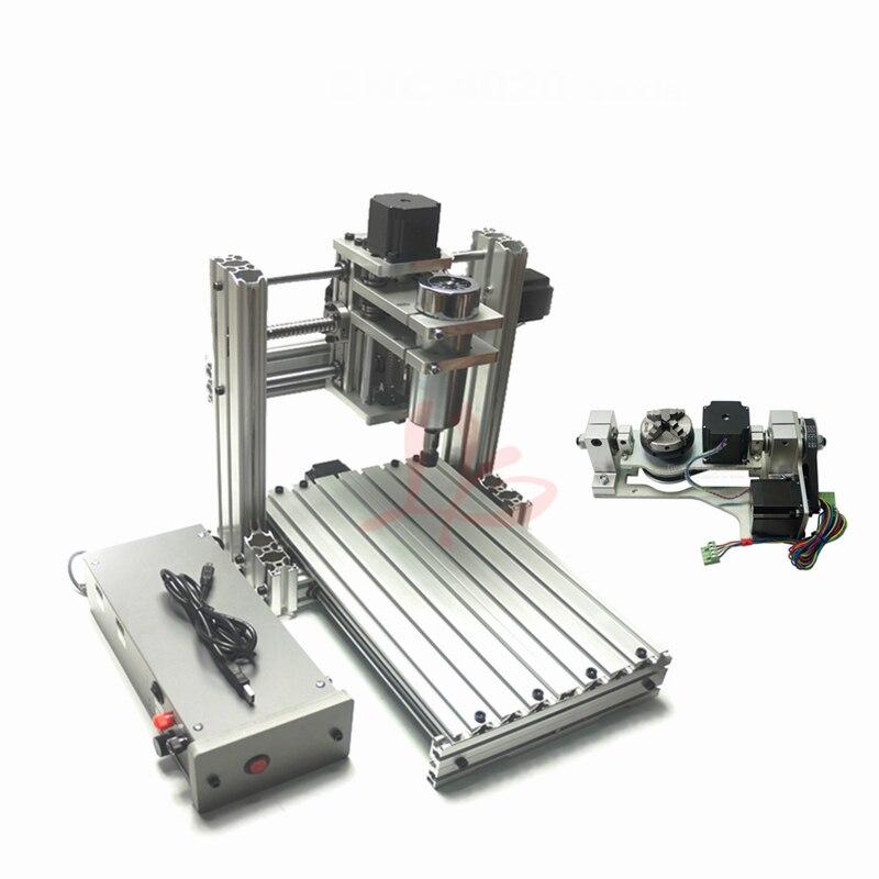 5 axes 4020 machine de gravure bricolage CNC métal bois routeur fraiseuse