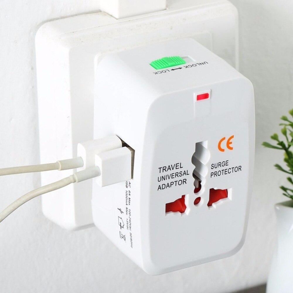 Electric Plug power Socket Adapter International travel adapter Universal Adapter Dual USB Power Charger Converter EU UK US AU