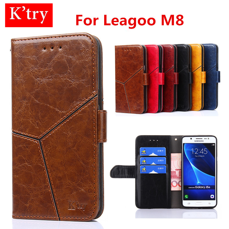 Conch For Leagoo M8 Original Wallet Flip Leather Back Cover Stand Flip Protection Case For Leagoo M8 Phone Bag Skin Fundas