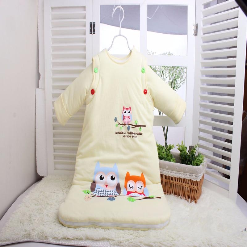 0-3 Years Old Children's Cotton Padded Anti-kick Is Baby Sleeping Bag Breathable Warm Fashion Cartoon Baby Sleeping Bag цена