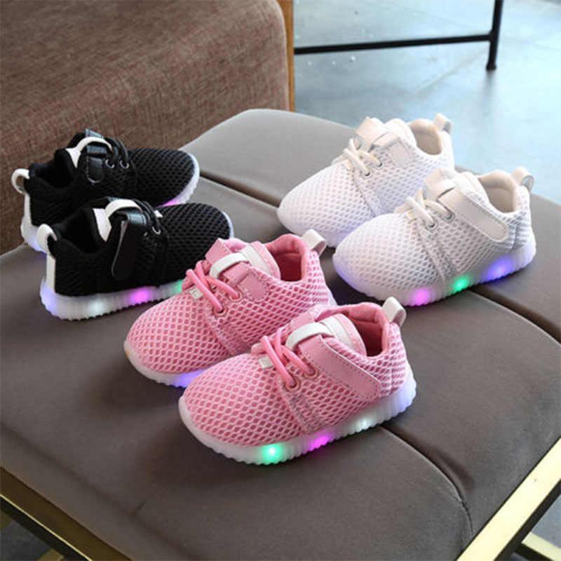 IMCUTE LED Zapatos Niño bebé niños niñas niños luminosos zapatillas iluminar zapatos