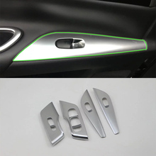Car Accessories Interior ABS Door Armrest Window Switch Lift Button Cover Trim For Nissan Altima 2016 Car Styling abs inner door armrest window lift switch button cover trim for mazda 3 2014 2015 2016 2017 car accessories