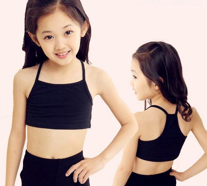 Free Shipping A Piece Little Girls Vest Girls Pubertal -9732