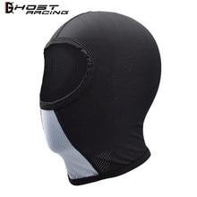 GHOST RACING Motorcycle Face Mask Headgear Full Masks For Helmet Summer Black Masque Riding Gear