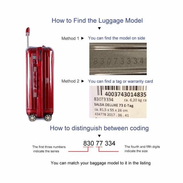 US $49 99 |rimowa luggage covers Suitcase Cover Clear Luggage Protector  Transparent PVC with Zipper for RIMOWA Salsa Deluxe-in Bag Parts &  Accessories