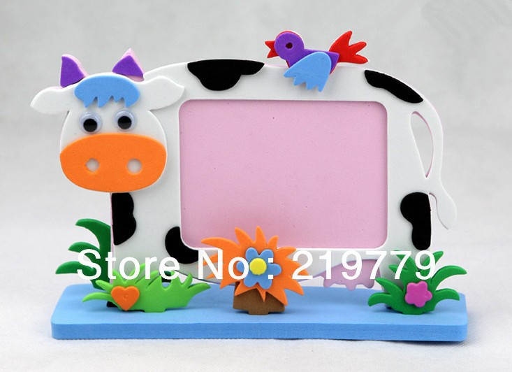 10pcs/lot Kids handmade Animated Photo Frames DIY Cartoon Animal EVA ...