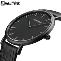 GEEKTHINK 2016 New Ultra Slim Top Brand Quartz Watch Men Casual Business JAPAN Analog Watch Men